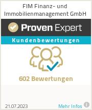 Erfahrungen & Bewertungen zu FIM Finanz- und Immobilienmanagement GmbH