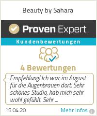 Erfahrungen & Bewertungen zu Beauty by Sahara