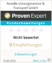 Erfahrungen & Bewertungen zu AzooBe Umzugsservice & Transport GmbH