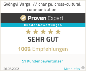 Erfahrungen & Bewertungen zu Gyöngyi Varga. // change. cross-cultural. communication.