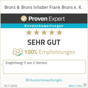 Erfahrungen & Bewertungen zu Bruns & Bruns Inhaber Frank Bruns e. K.