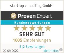 Erfahrungen & Bewertungen zu start!up consulting e.K.