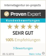 Erfahrungen & Bewertungen zu Internetagentur on-projects