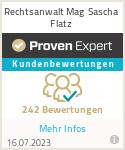 Erfahrungen & Bewertungen zu Sascha Flatz