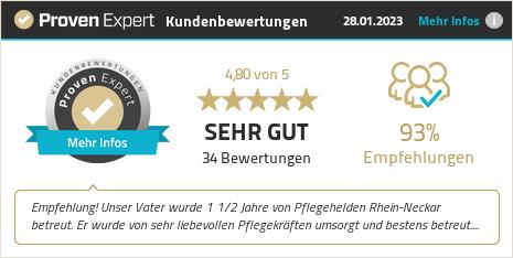 Kundenbewertungen & Erfahrungen zu Pflegehelden® Rhein-Neckar. Mehr Infos anzeigen.