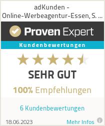 Erfahrungen & Bewertungen zu adKunden - Online-Werbeagentur-Essen, S. Lemmler