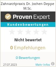 Erfahrungen & Bewertungen zu Zahnarztpraxis Dr. Jochen Deppe M.Sc.