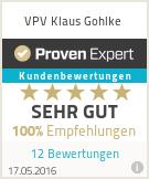Erfahrungen & Bewertungen zu VPV Klaus Gohlke