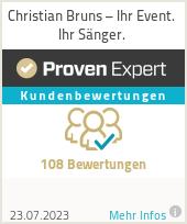 Erfahrungen & Bewertungen zu Hochzeitssänger Christian Bruns