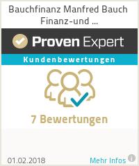Erfahrungen & Bewertungen zu Bauchfinanz Manfred Bauch Finanz-und Versicherungsmakler