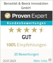 Erfahrungen & Bewertungen zu Benedikt & Beeck Immobilien GmbH