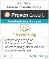 Erfahrungen & Bewertungen zu e-Iubar - Unternehmensbaratung