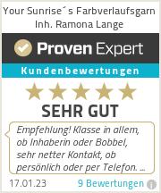 Erfahrungen & Bewertungen zu Your Sunrise´s Farbverlaufsgarn Inh. Ramona Lange