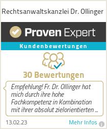 Erfahrungen & Bewertungen zu Rechtsanwaltskanzlei Dr. Ollinger