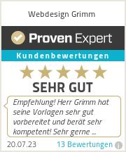 Erfahrungen & Bewertungen zu Webdesign Grimm