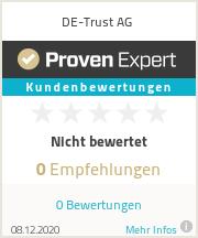 Erfahrungen & Bewertungen zu DE-Trust GmbH