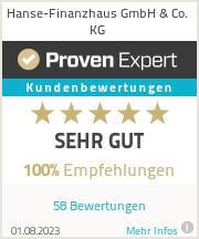 Erfahrungen & Bewertungen zu Hanse-Finanzhaus GmbH & Co. KG