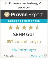Erfahrungen & Bewertungen zu HDI Generalvertretung M. Suckrow