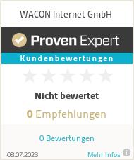 Erfahrungen & Bewertungen zu WACON Internet GmbH