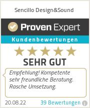 Erfahrungen & Bewertungen zu Sencillo Design&Sound