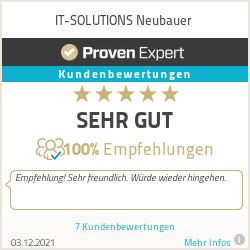 Erfahrungen & Bewertungen zu IT-SOLUTIONS Neubauer
