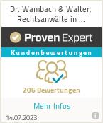Erfahrungen & Bewertungen zu Dr. Wambach & Walter, Rechtsanwälte in Partnerschaft mbB