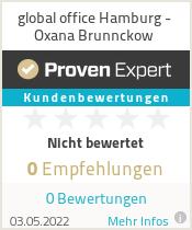 Erfahrungen & Bewertungen zu global office Hamburg - Oxana Brunnckow