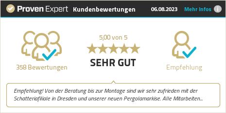 Kundenbewertungen & Erfahrungen zu Schatteria - Markisen und Terrassendächer. Mehr Infos anzeigen.
