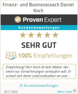 Erfahrungen & Bewertungen zu Finanz- und Businesscoach Daniel Koch