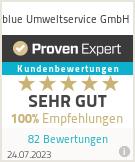 Erfahrungen & Bewertungen zu blue Umweltservice GmbH