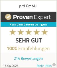 Erfahrungen & Bewertungen zu prd GmbH