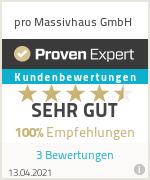 Erfahrungen & Bewertungen zu pro Massivhaus GmbH