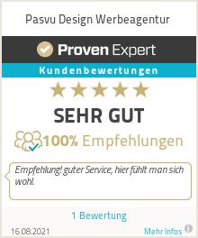 Erfahrungen & Bewertungen zu Pasvu Design Werbeagentur