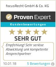 Erfahrungen & Bewertungen zu focusRecht GmbH & Co. KG