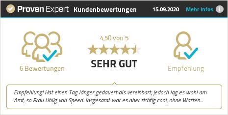 Kundenbewertungen & Erfahrungen zu Speed Zulassungsdienst GmbH. Mehr Infos anzeigen.