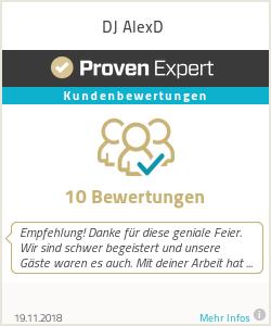 Erfahrungen & Bewertungen zu DJ AlexD