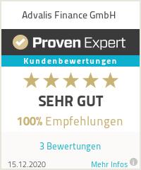 Erfahrungen & Bewertungen zu Advalis Finance GmbH