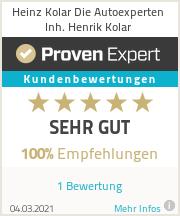 Erfahrungen & Bewertungen zu Heinz Kolar Die Autoexperten