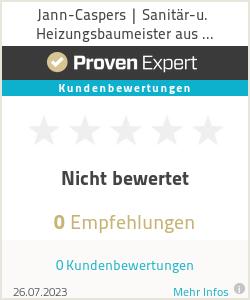 Erfahrungen & Bewertungen zu Jann-Caspers | Sanitär-u. Heizungsbaumeister aus Ostfriesland