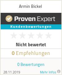 Erfahrungen & Bewertungen zu Armin Bickel