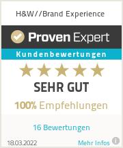 Erfahrungen & Bewertungen zu H&W//Brand Experience