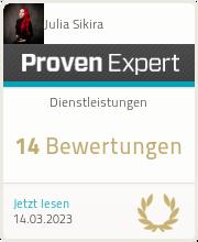 ProvenExpert-Profil von Julia Sikira anzeigen