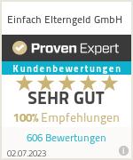 Erfahrungen & Bewertungen zu Einfach Elterngeld GmbH
