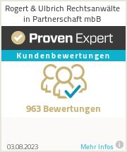 Erfahrungen & Bewertungen zu Rogert & Ulbrich Rechtsanwälte in Partnerschaft mbB
