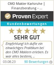 Erfahrungen & Bewertungen zu CMO Makler Karlsruhe | Finanzberatung - Immobilienmakler - Versicherungsmakler GmbH