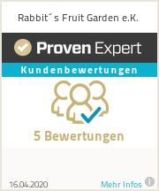 Erfahrungen & Bewertungen zu Rabbit´s Fruit Garden e.K.