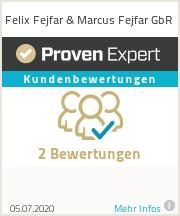Erfahrungen & Bewertungen zu Felix Fejfar & Marcus Fejfar GbR