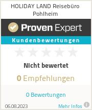 Erfahrungen & Bewertungen zu HOLIDAY LAND Reisebüro Pohlheim