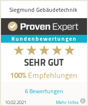 Erfahrungen & Bewertungen zu Siegmund Gebäudetechnik