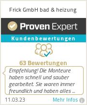 Erfahrungen & Bewertungen zu Frick GmbH bad & heizung